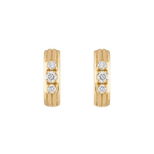 Portofino Huggies with Diamonds