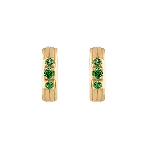 Portofino Huggie  Earring with Tsavorie Garnet