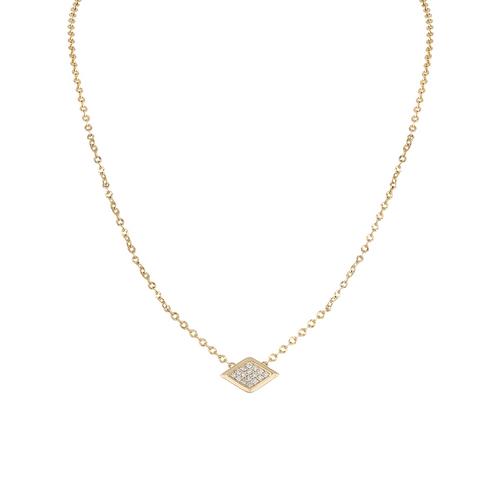 Lucia Single Pave Diamond Station Necklace