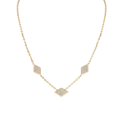 Lucia 3 station diamond necklace