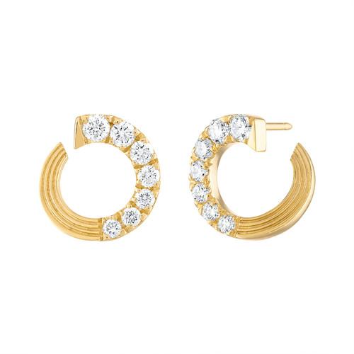 Portofino Small  Diamond Hoop Earrings