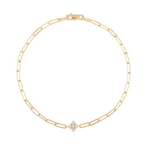 Essentials Diamond Paperclip Bracelet