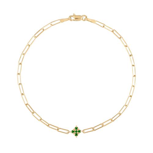 Essentials Emerald Paperclip Bracelet