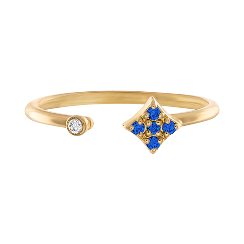 Essentials Open Ring with Blue Sapphire