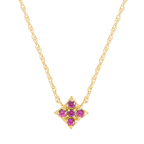 Essentials Pendant with Pink Sapphire