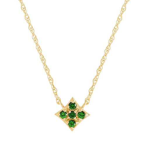 Essentials Pendant with Emerald