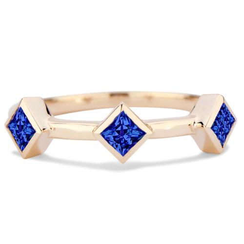 Essentials Bezel Band with Blue Sapphire