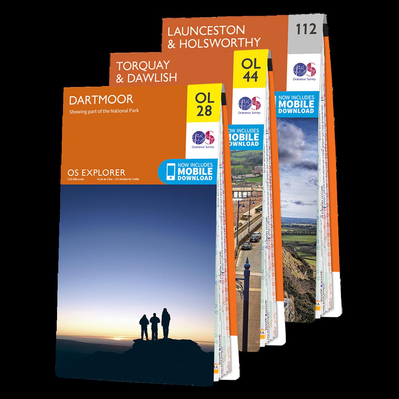 Os Explorer Dartmoor Map Set