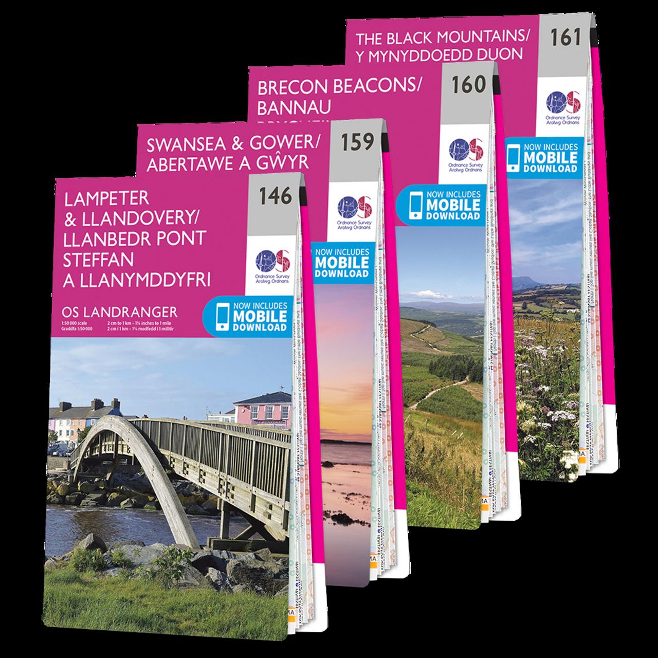 Os Landranger Brecon Beacons Map Set