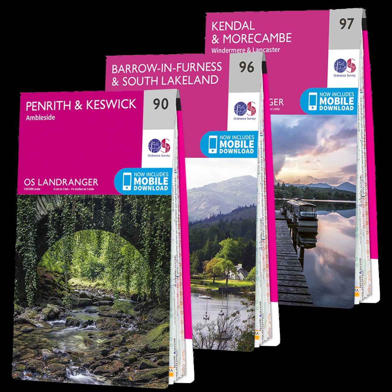 Os Landranger Lake District Map Set
