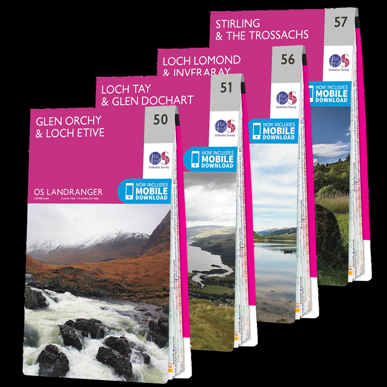 Os Landranger Loch Lomond And The Trossachs Map Set