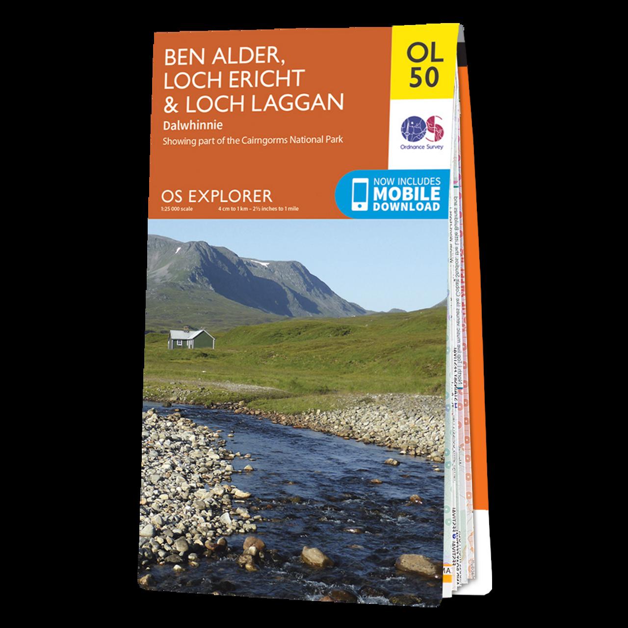 Map Of Ben Alder  Loch ErichtandLoch Laggan