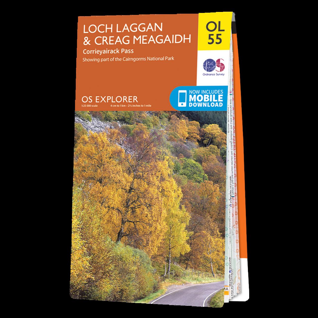 Map Of Loch LagganandCreag Meagaidh