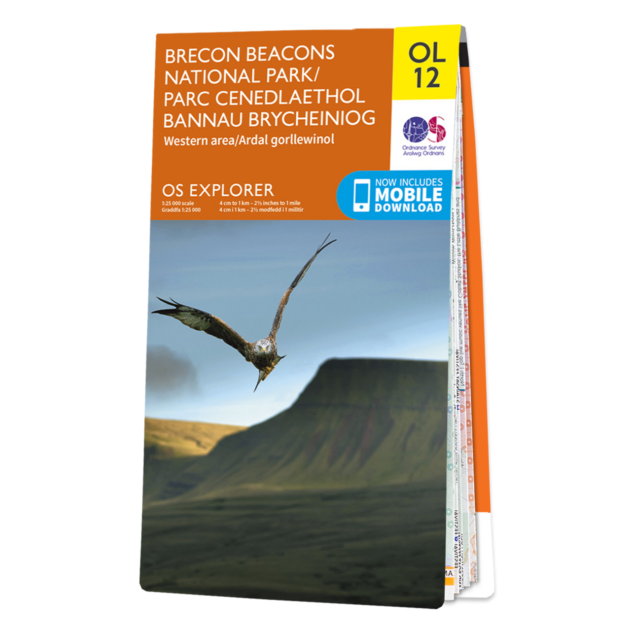 Map Of Brecon Beacons National Park (western Area)