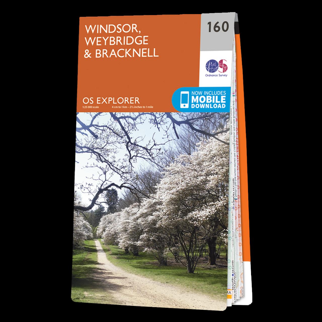 Map Of Windsor  WeybridgeandBracknell