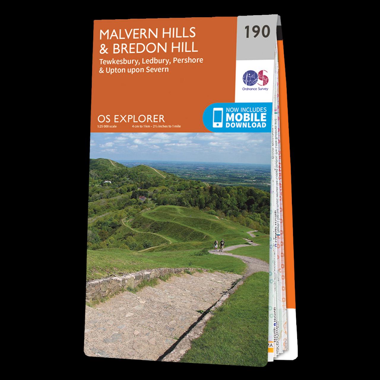 Map Of Malvern HillsandBredon Hill