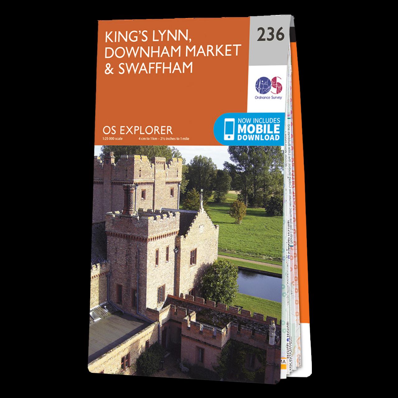 Map Of Kings Lynn  Downham MarketandSwaffham