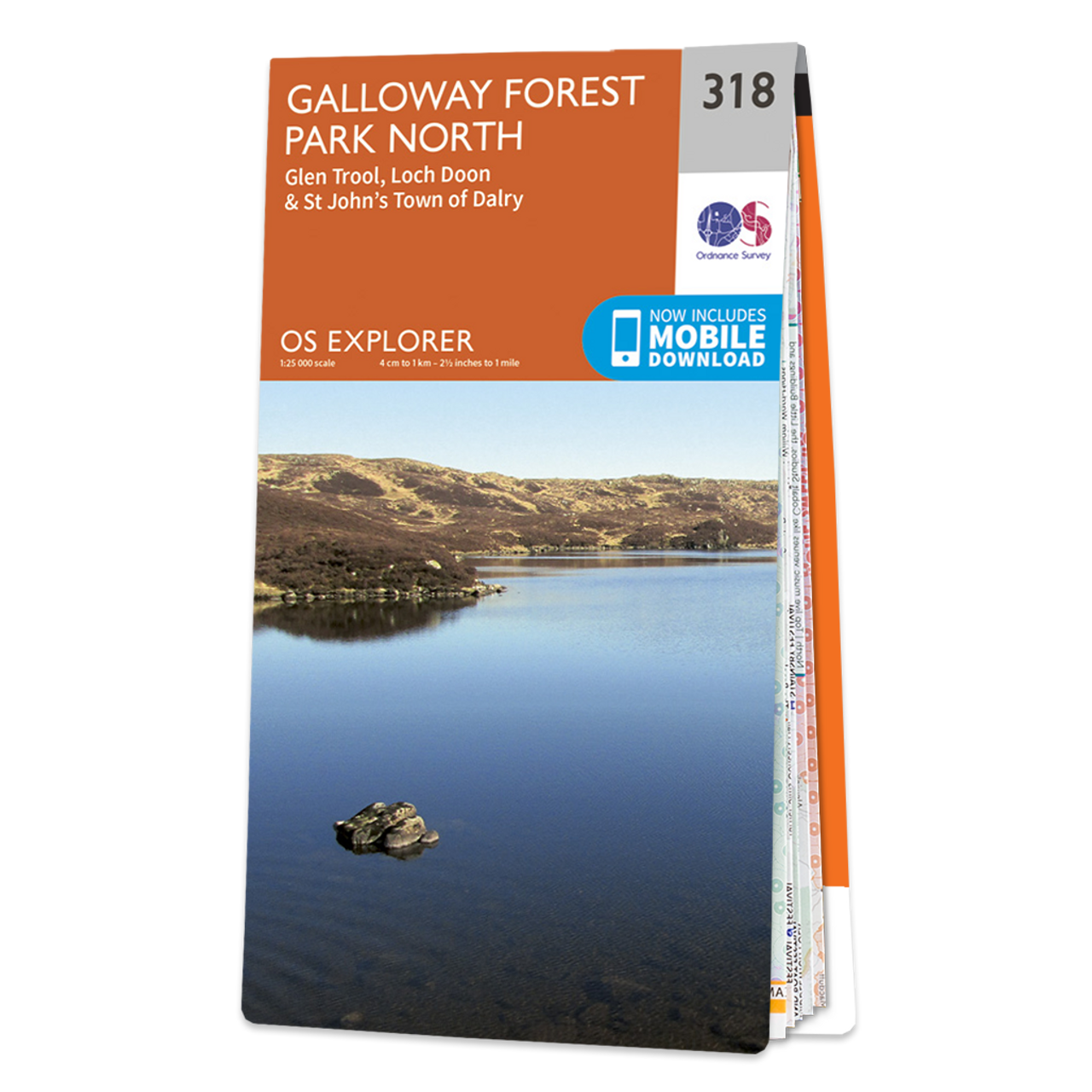 Map Of Galloway Forest Park North