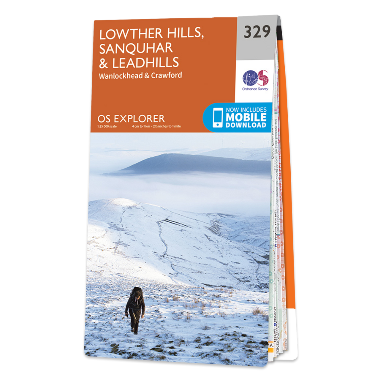 Map Of Lowther Hills  SanquharandLeadhills