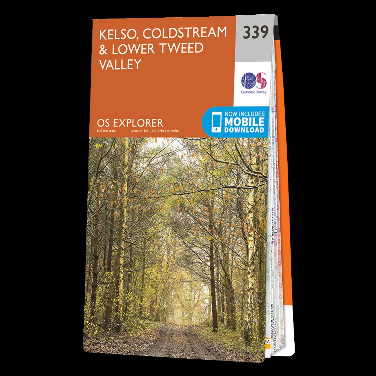 Map Of Kelso  ColdstreamandLower Tweed Valley