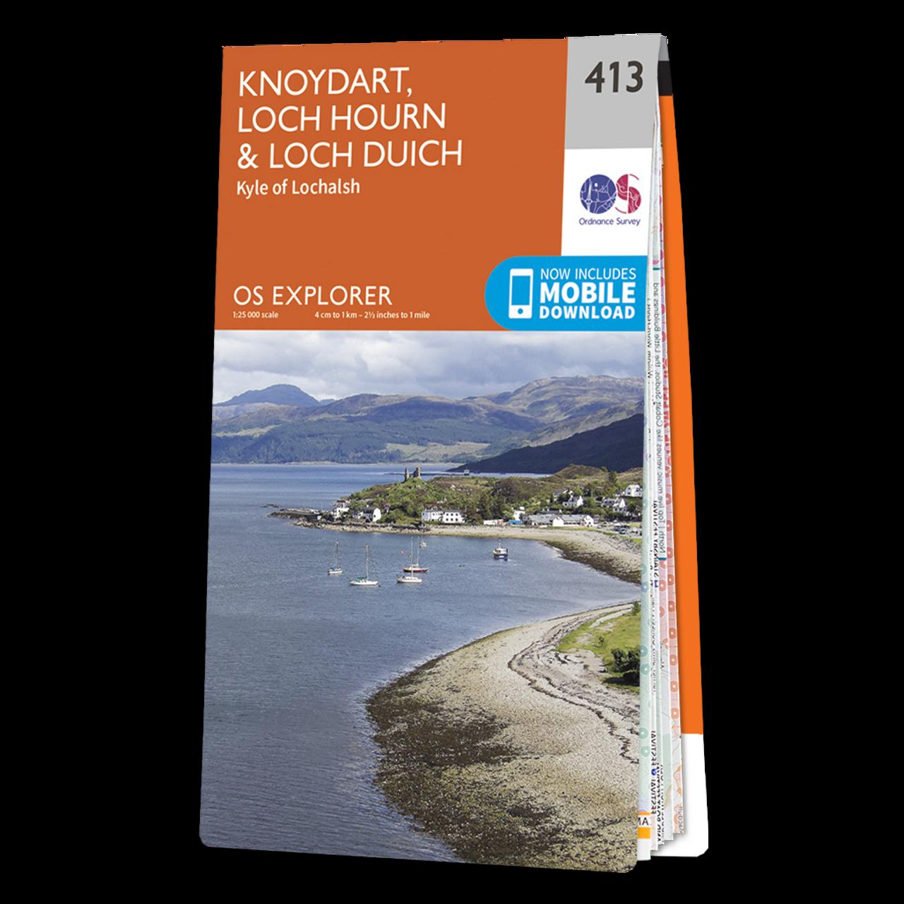 Map Of Knoydart  Loch HournandLoch Duich