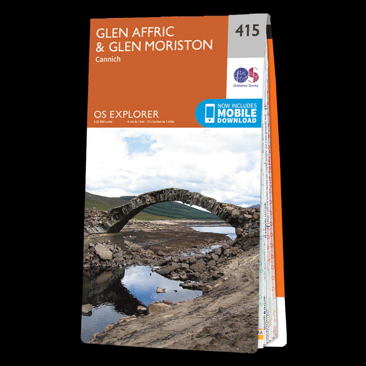 Map Of Glen AffricandGlen Moriston