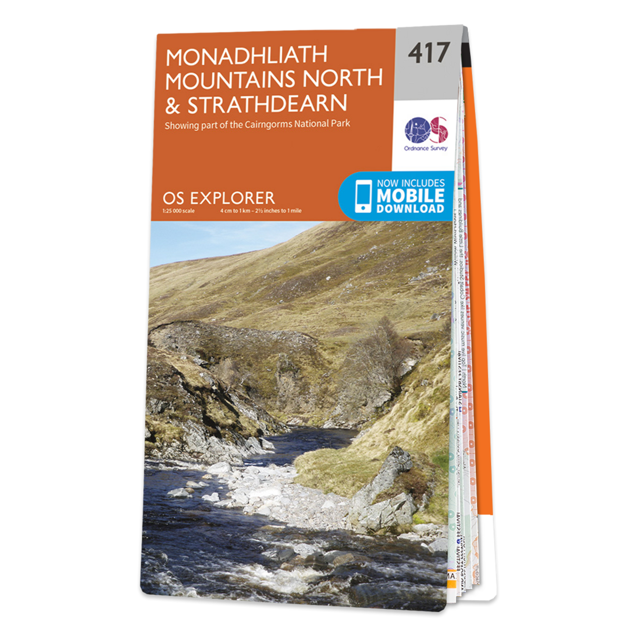 Map Of Monadhliath Mountains NorthandStrathdearn