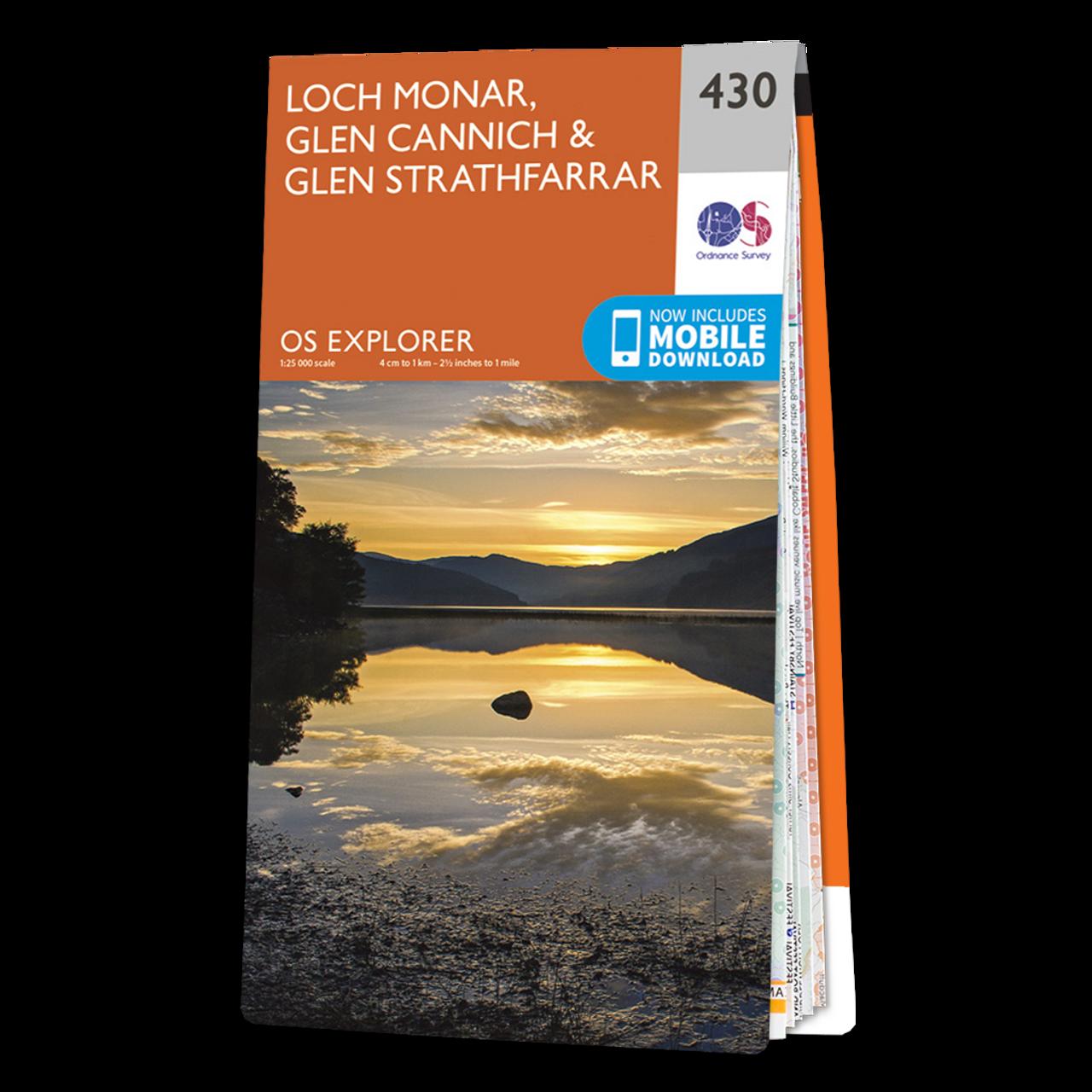 Map Of Loch Monar  Glen CannichandGlen Strathfarrar
