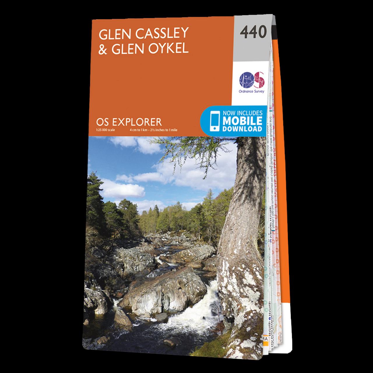 Map Of Glen CassleyandGlen Oykel