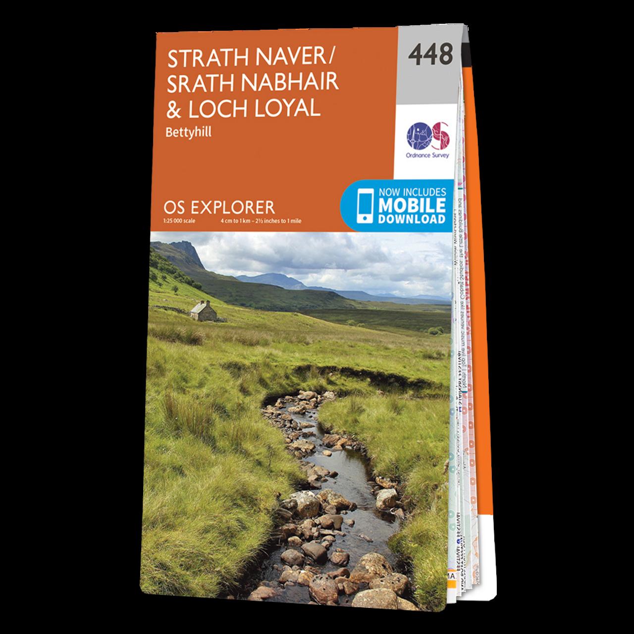 Map Of Strath NaverandLoch Loyal