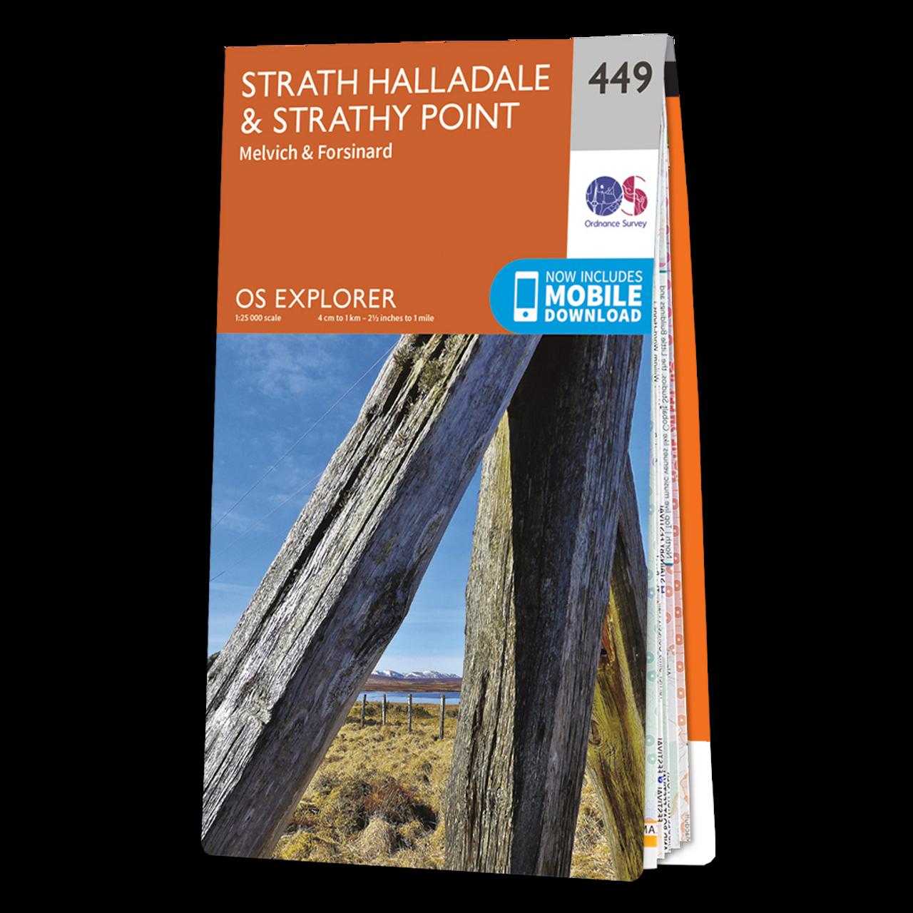 Map Of Strath HalladaleandStrathy Point