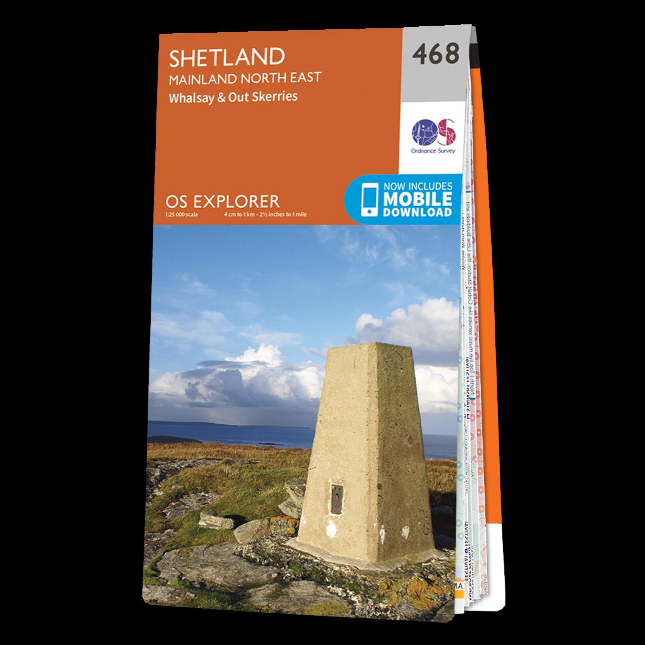Map Of Shetland - Mainland North East