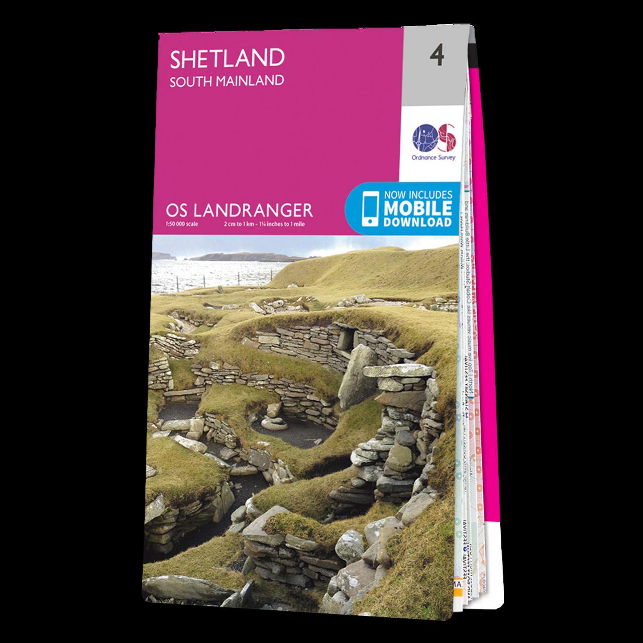 Map Of Shetland - South Mainland