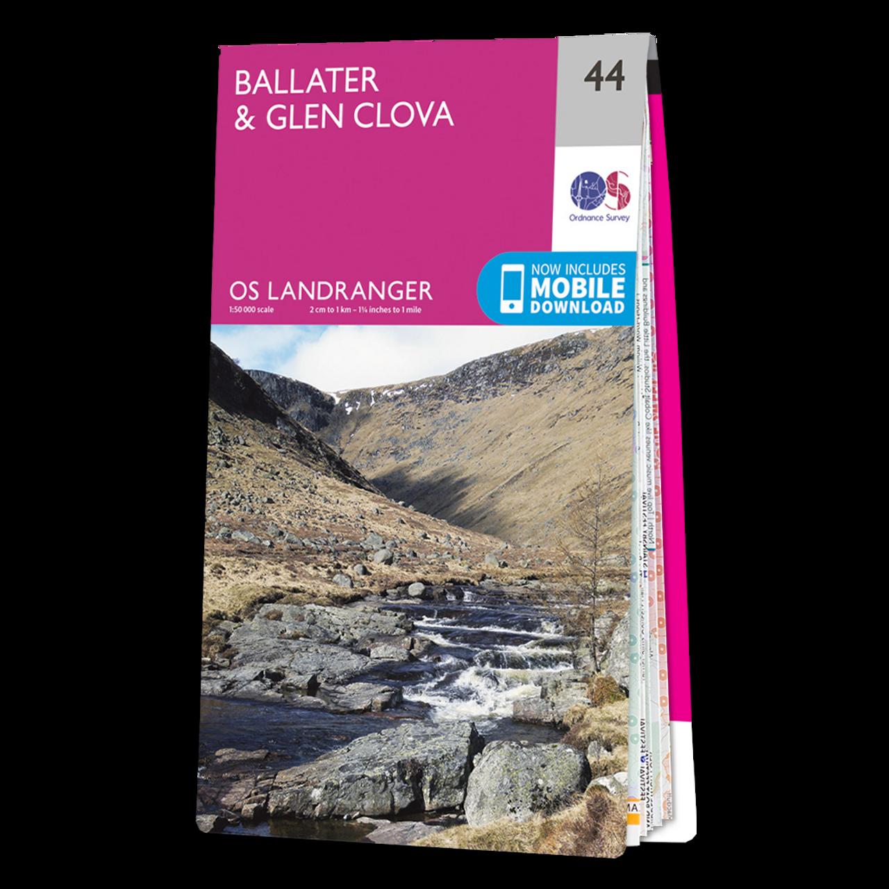 Map Of BallaterandGlen Clova