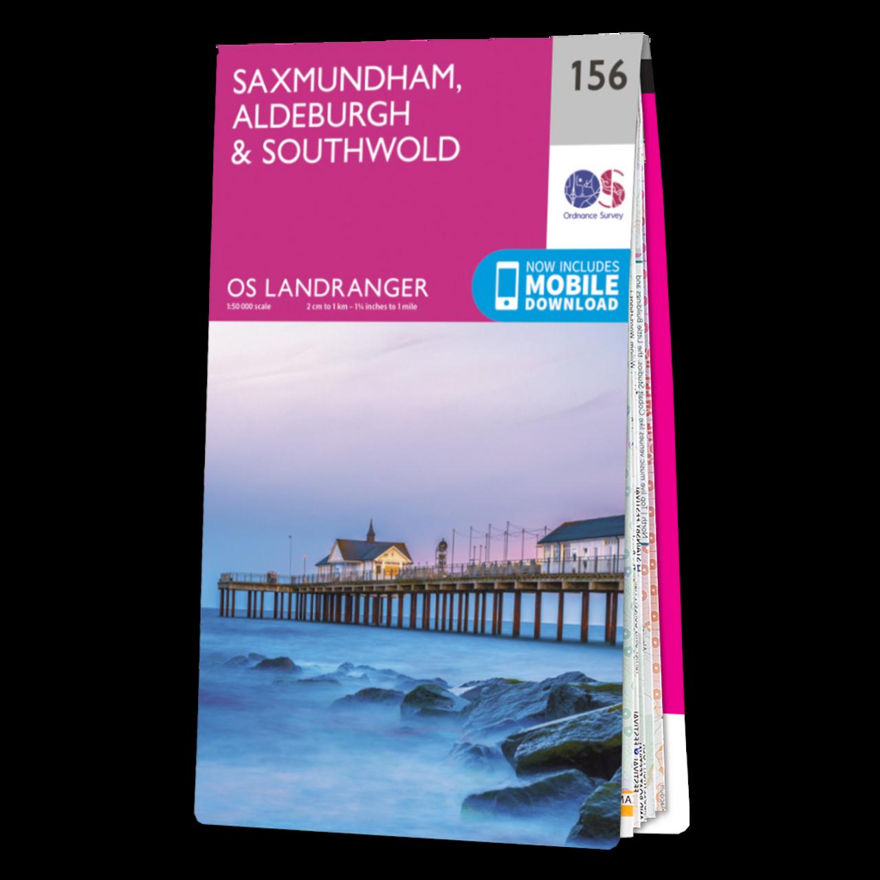 Map Of Saxmundham  AldeburghandSouthwold