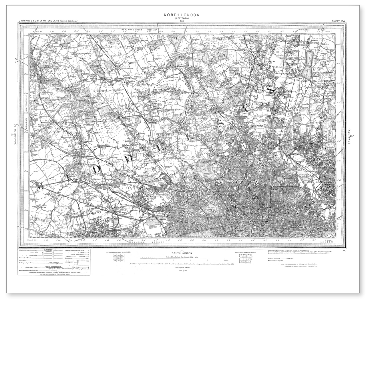 Map Of Inverness 1896-1904