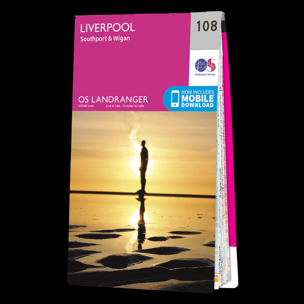 OS Map of Liverpool | Landranger 108 Map | Ordnance Survey ...