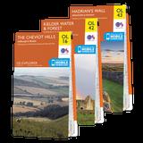 OS Explorer Northumberland map set