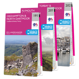 OS Landranger Dartmoor map set