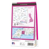Map of Taunton & Lyme Regis