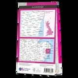 Map of Saxmundham, Aldeburgh & Southwold