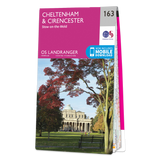 Map of Cheltenham & Cirencester