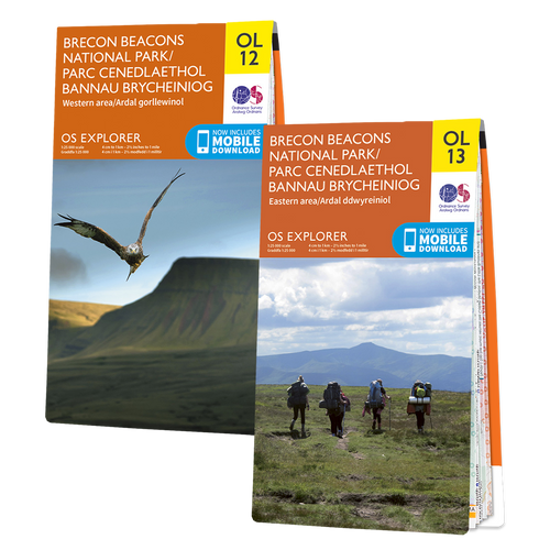 OS Explorer Brecon Beacons map set