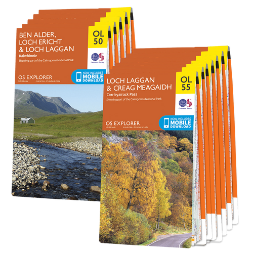 OS Explorer Cairngorms map set