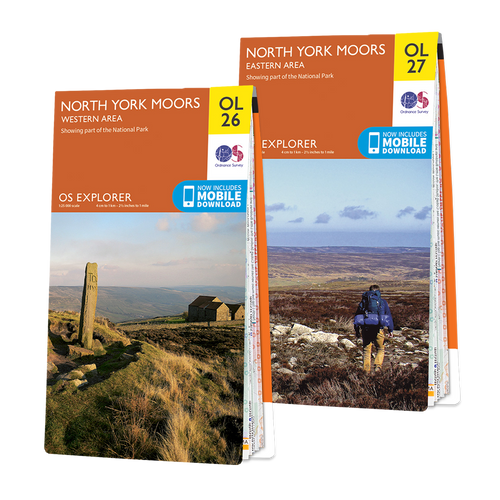 OS Explorer North York Moors map set