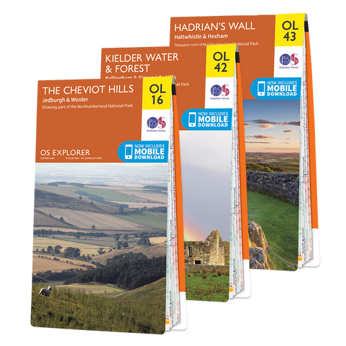 OS Explorer Northumberland map set