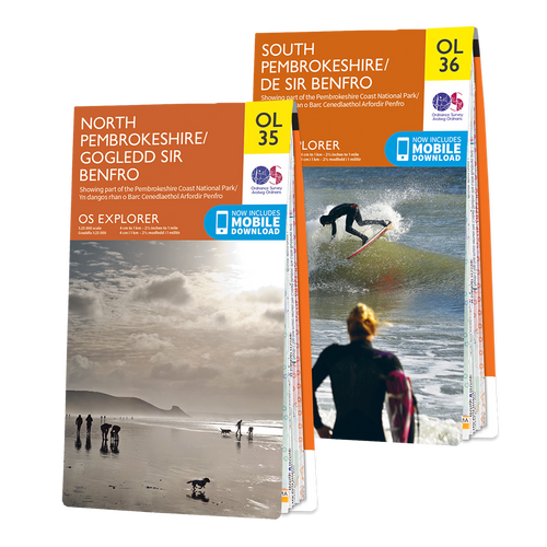 OS Explorer Pembrokeshire Coast map set