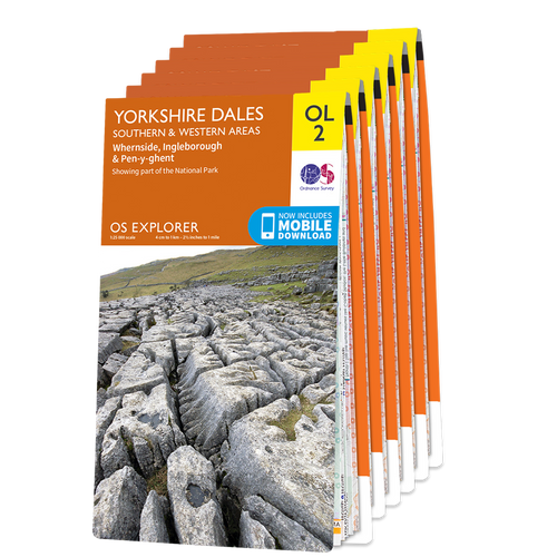 OS Explorer Yorkshire Dales map set