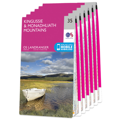 OS Landranger Cairngorms map set