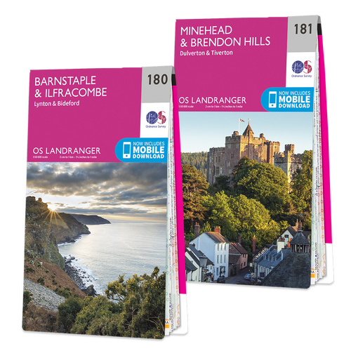 OS Landranger Exmoor map set